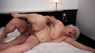 Hairy Old Lady Norma Gets Drilled