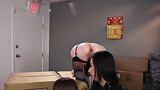 Huge Tits Mistress Anal Toys Lesbians In Shop