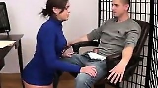 Giving The Boss A Footjob