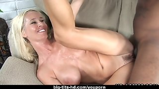 Delicious Blonde Milf Rides On A Big Black Cock