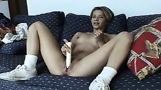 Orgasmic Teen Solo Masturbation