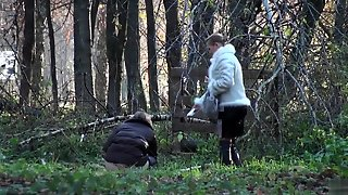 Russian Hookers Ends Up Pissing In The Middle Of The Woods