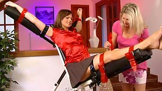 Czech Sandra Tickled Bare Feet With Tied Toes