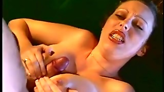 Lascivious Playgirl Wraps Her Valuable Natural Boobs Around A Thick Dong