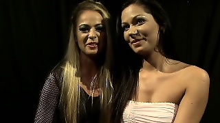 Sensual Blonde Is Eager To Tie Up And Strip A Sensual Brunette