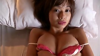 Satin Lingerie And A Sweater Modeled By A Hottie