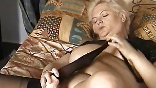 Large Toy Fucks Her Pussy