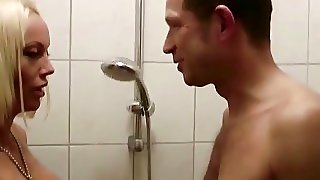 German Hot Milf Caught In Shower And Seduce To Fuck