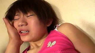 Japanese Teen Pleased With Vibrator