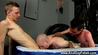 Gay Orgy Straight By Two Big Dicked Boys