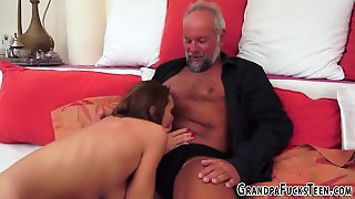 Teen Railed By Old Gramps