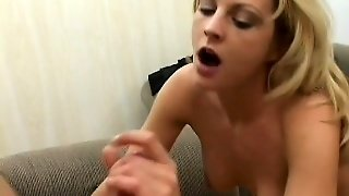Striking Blonde Mom Sindy Lange Has Two Young Guys Drilling Her Butt