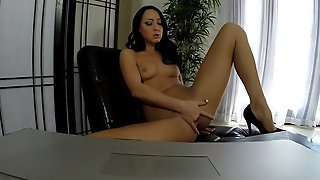 Brunette Has A Lot Of Sexual Energy To Spend And Does It Alone!