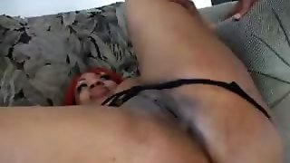 Black Bbw Does Anal On The Couch