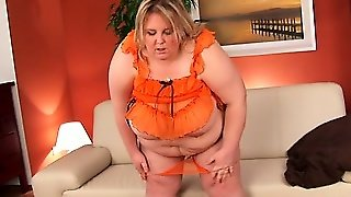 Really Fat Bitch Truda Shows Her Big Tits And Toys Her Big Hole