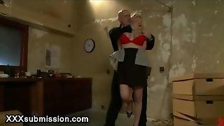 Janitor Handcuffed And Fucked Big Boobs Blonde Teacher
