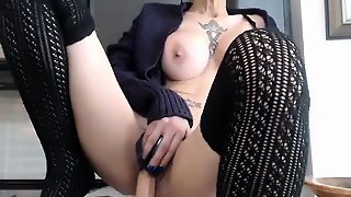 Russian Slut Masturbates With Toys