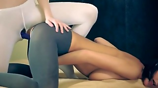 Lovely Hot Lesbians In Pantyhose