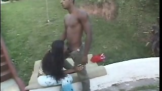 Hot Cum On Shemales Face After Outdoor Sex