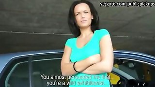 Kinky Girl Flashes Her Tits And Pounded In The Parking Lot