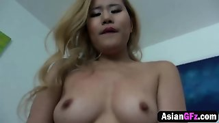 Blonde Asian Babe Fucked Hard By