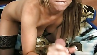 Hot Milf Gives A Blow Job