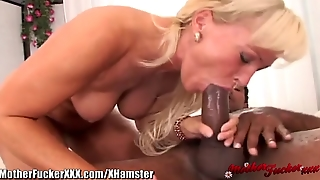 Blonde Cougar Ass Fucked By Big Black Cock