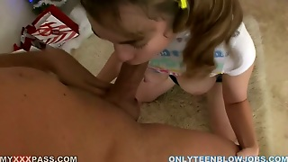 Lustful Teeny Looking Babe Sammy Grand Blows Really Big Dick