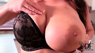 Big Boobed In Black Lingerie