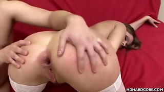 Stockinged Euro Babe Analed
