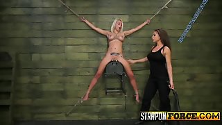 Lesbian Babe Fucked With Strapon