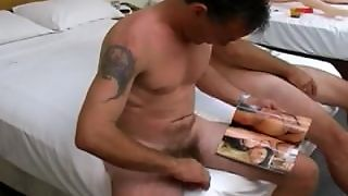 Two Guys Naked And Masturbating
