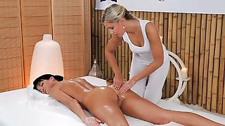 Massage Rooms  - Elegant Model With Long Legs