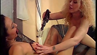 2 Sexy Lesbians Dabble In Bdsm