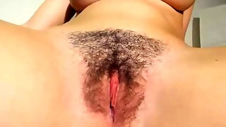 Big Tits And A Hairy Pussy