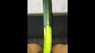 Masturbation With Vegetable