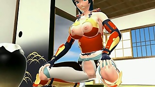 Japanese 3D Hentai Shemale Gets Handjob