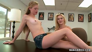 An Amazing Pov Threesome With Gorgeous Blonde Teens