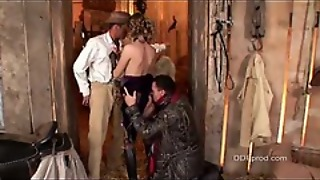 Sexy Old West Slut Has Two Cowboys To Suck On