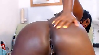 Sexy Thick Ebony Webcam Dildo Fuck