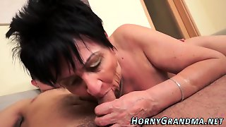 Busty Granny Creampied