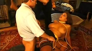 Slut Gets Tied Up & Gangbanged.