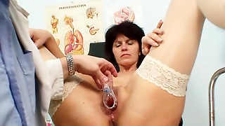 Wide Stretching For A Nasty Mature