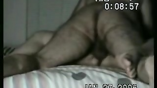 Hairy Missionary Fuck On The Bed
