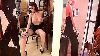 There Is Always Something That A Girl Can Do In Order To Look Even Hotter And In This Case, Danielle Is Gonna Show Off In Her Sexy Black High Heels While Feeling Her Breasts.