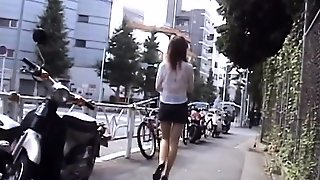 Sweet Young Japanese Playgirl Public Flashing On The Street
