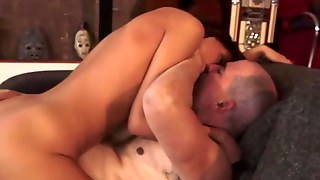 Small Tits Slut Fucked Old Guy