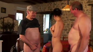 French Teens Threesome Deepthroat With Our Voyeur Papy