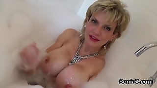Adulterous English Milf Lady Sonia Presents Her Massive Knockers