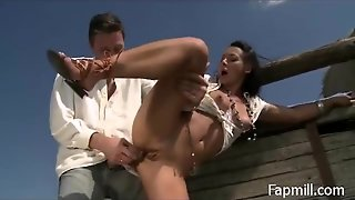 Milking The Cock Outside - Fapmill.com